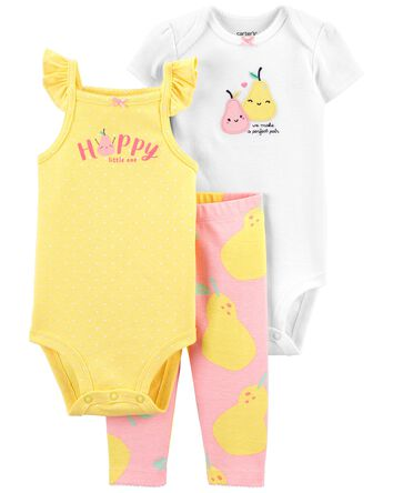 3-Piece Pear Little Character Set