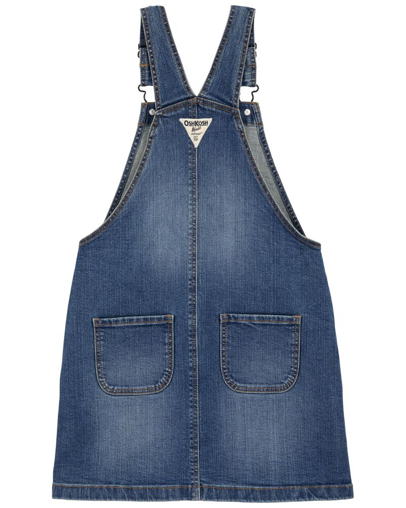 Robe chasuble en denim extensible, , hi-res