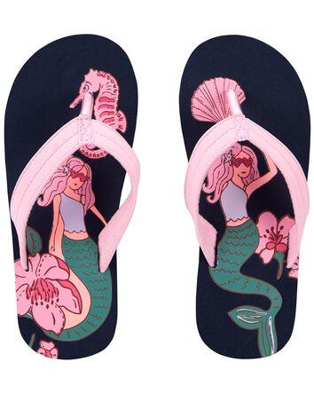 Sandales de plage à motif sirène