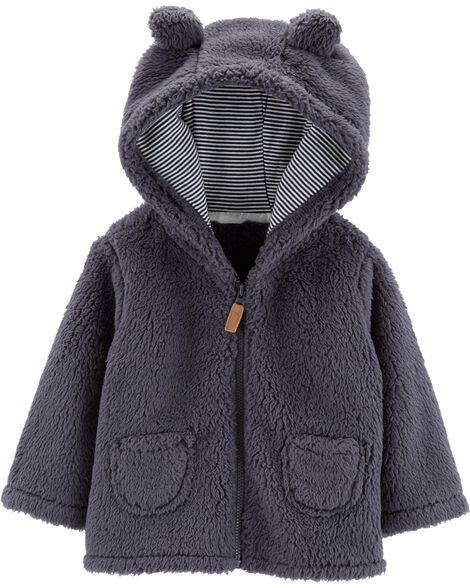 Zip-Up Sherpa Cardigan