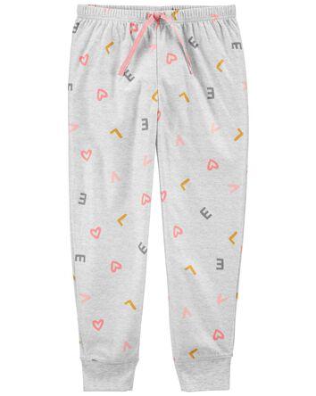 Pantalon de pyjama en molleton faci...