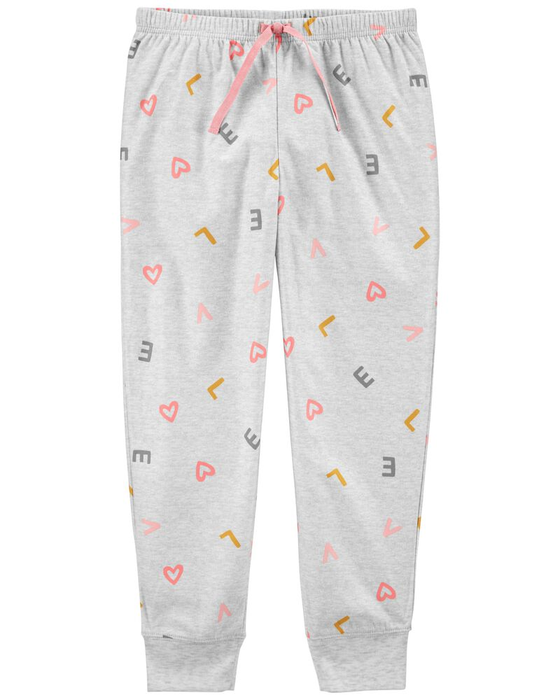 Heart Pull-On Fleece PJ Pants, , hi-res