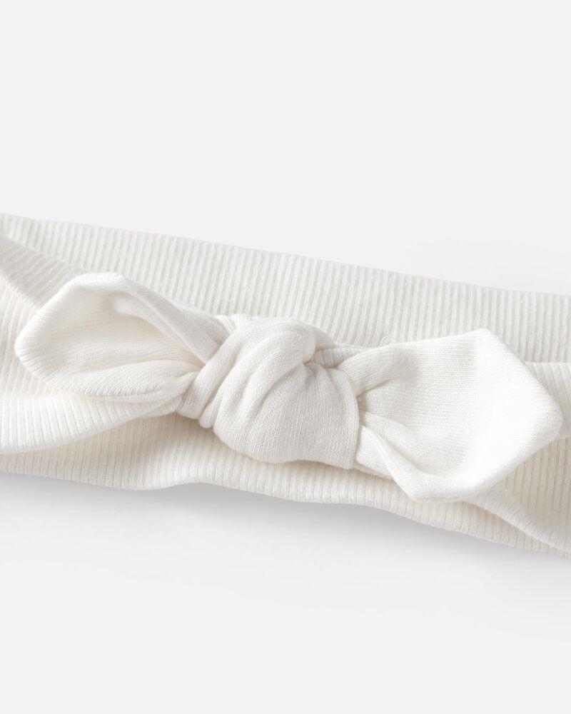 Organic Cotton Rib Bow Headwrap, , hi-res