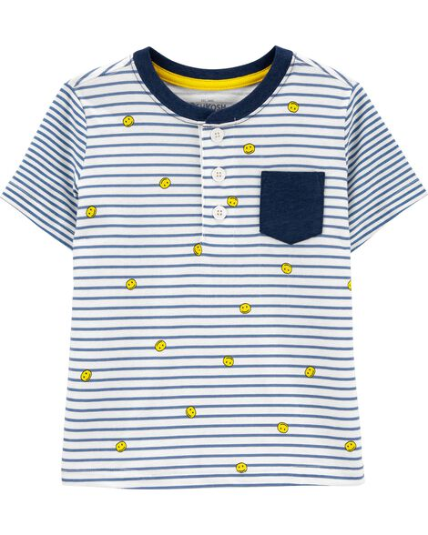 T-shirt rayé à binettes