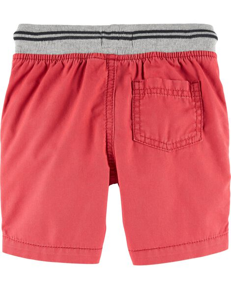 Pull-On Canvas Shorts