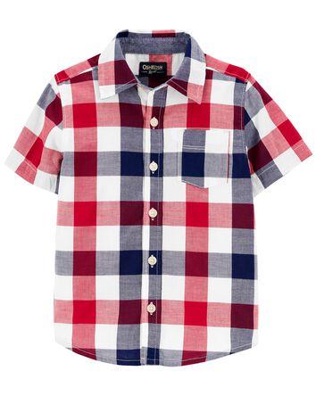 Buffalo Check Button-Front Shirt