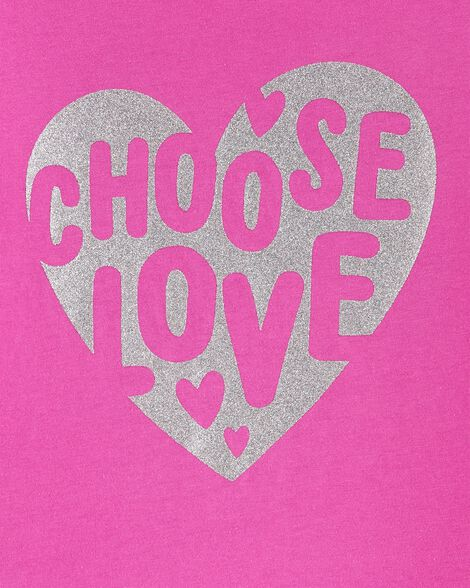 T-shirt en jersey avec cœur scintillant Choose Love