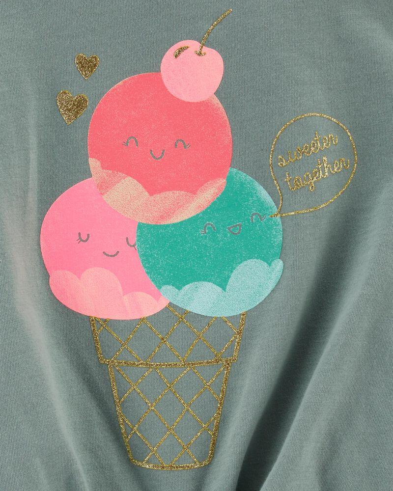 T-shirt en jersey cornet de crème glacée, , hi-res