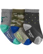3-Pack Dinosaur Crew Socks, , hi-res