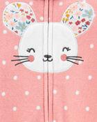 Mouse Zip-Up Fleece Sleep & Play, , hi-res