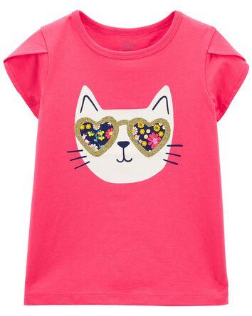 T-shirt en jersey chat