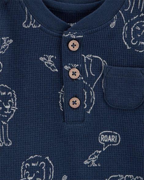 Ensemble 3 pièces cache-couche et t-shirt lion
