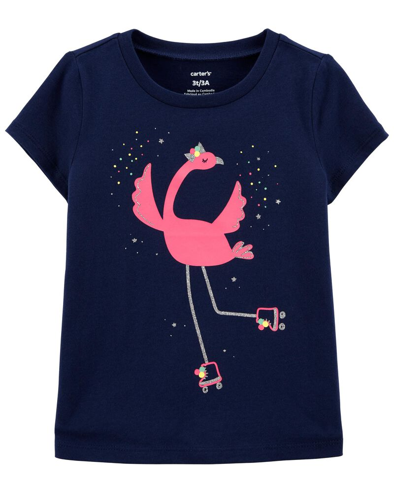 Flamingo Jersey Tee, , hi-res