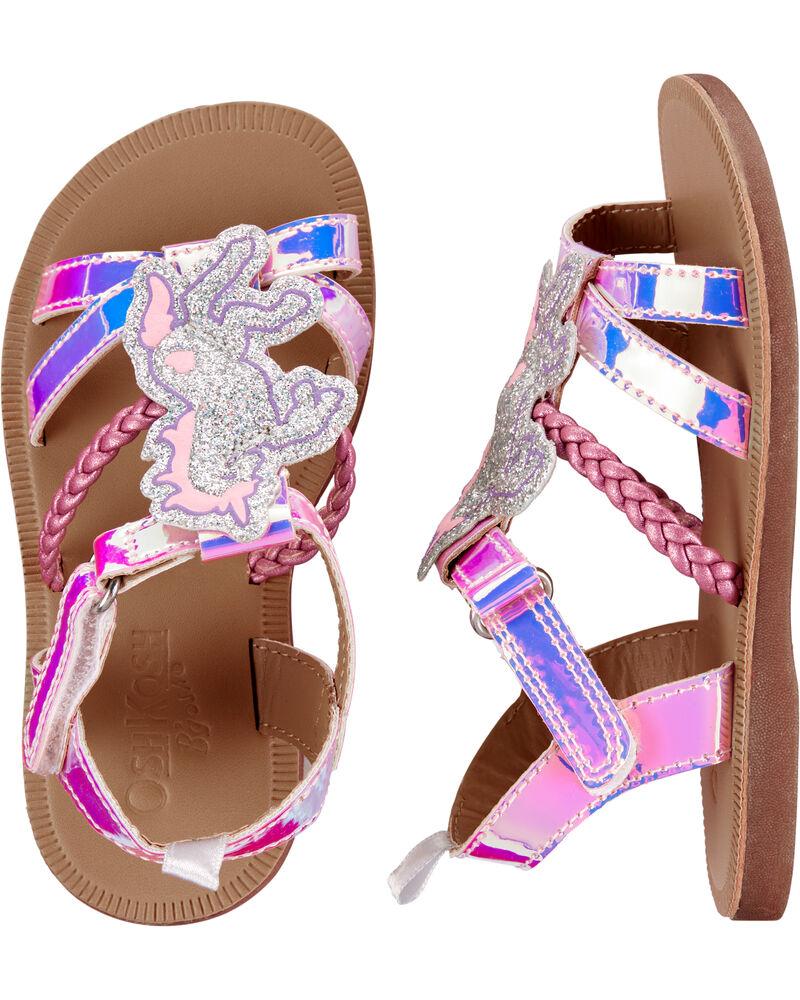 Glitter Unicorn Sandals, , hi-res