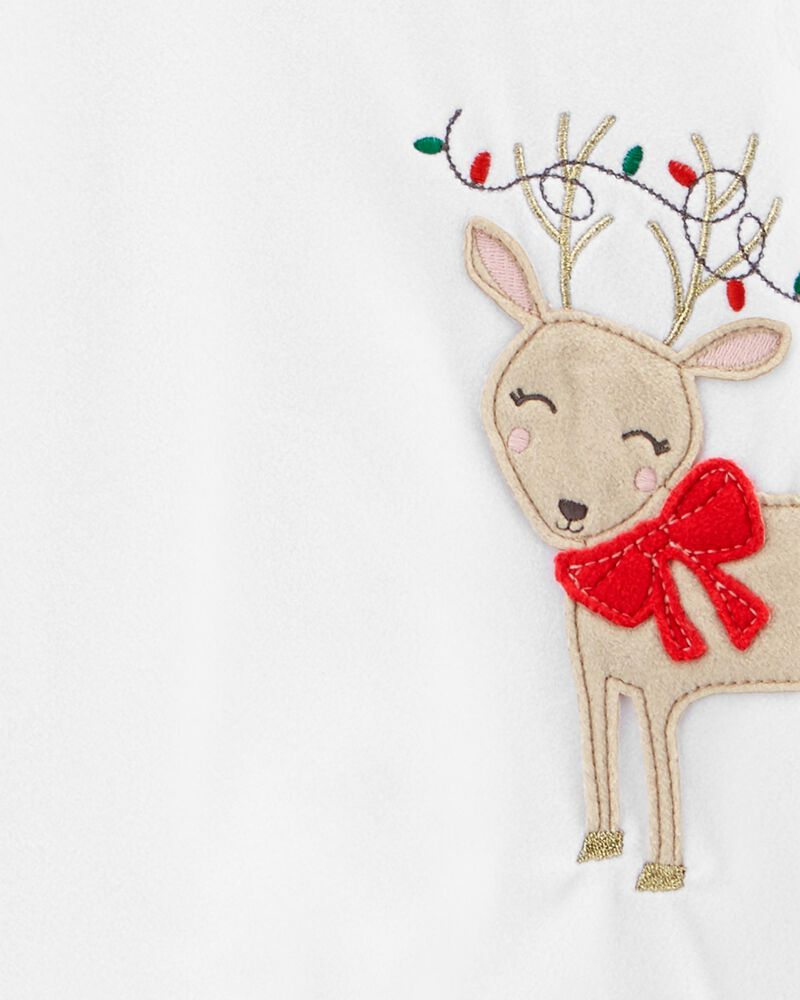 2-Piece Holiday Christmas Fleece PJs, , hi-res