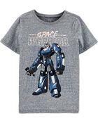 T-shirt en jersey chiné à robot, , hi-res