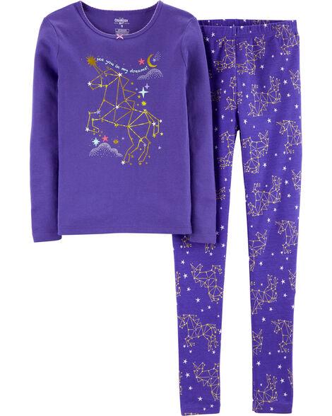 2-Piece Snug Fit Constellation Cotton PJs