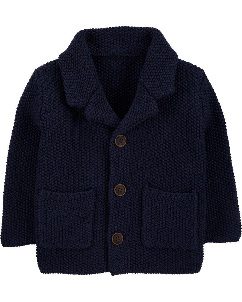 Sweater-Knit Blazer, , hi-res