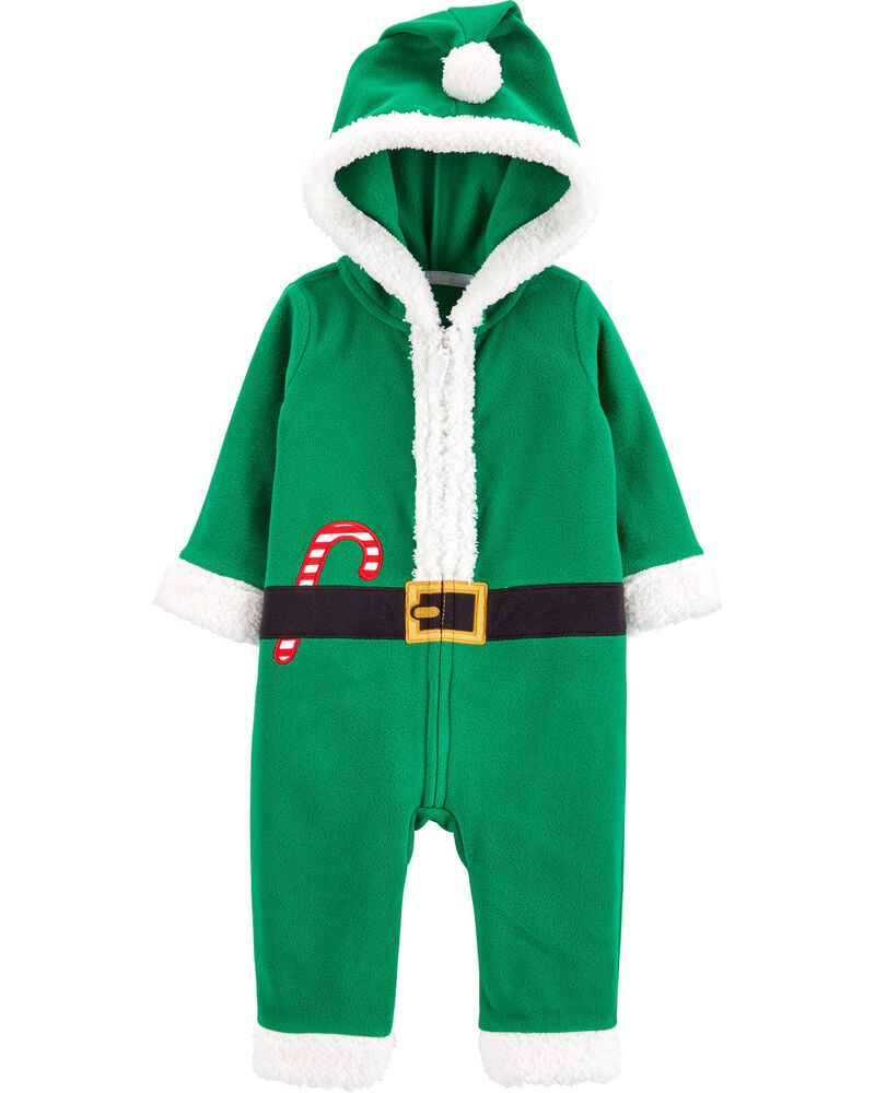 Christmas Elf Zip-Up Jumpsuit, , hi-res