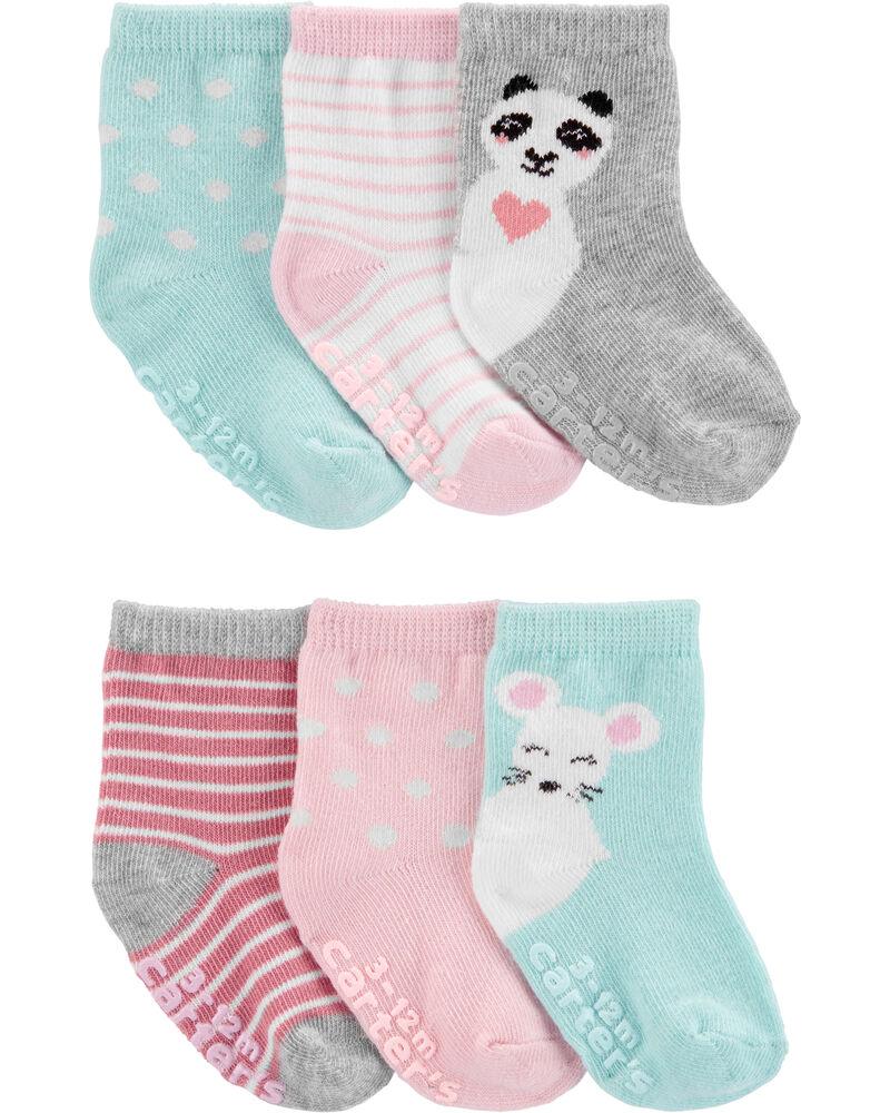 6 paires de chaussettes mi-mollet, , hi-res