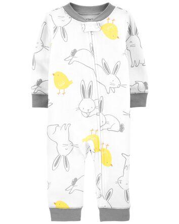 Easter Zip-Up Cotton Sleep & Play