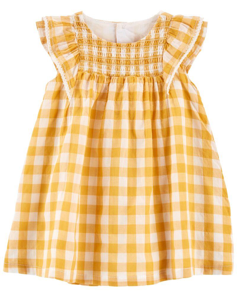 Gingham Lawn Dress, , hi-res