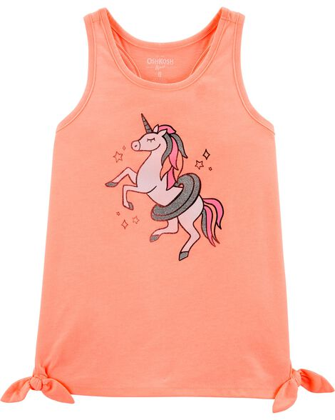 Unicorn Side Tie Tank