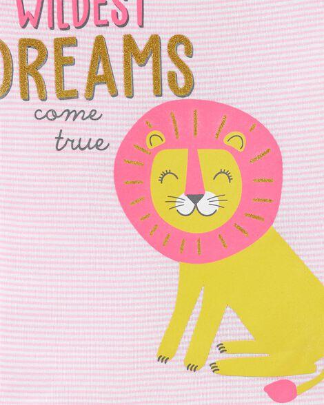 Pyjama 4 pièces en coton ajusté à lion