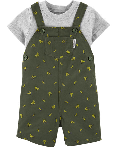 2-Piece Tee & Banana Shortalls Set