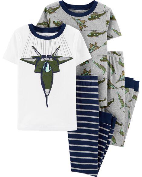 4-Piece Aircraft Snug Fit Cotton PJs