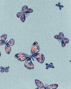 Peplum Hem Butterfly Fleece Hoodie, , hi-res