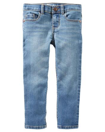 Jeans doux fuseau - délavage bleu U...