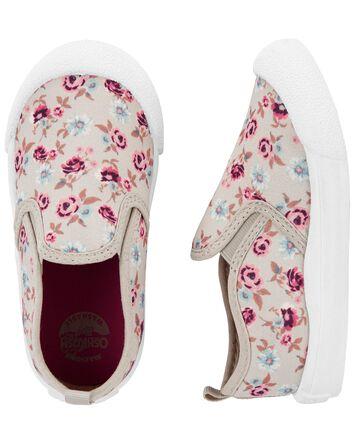 Chaussures à enfiler avec motif fle...