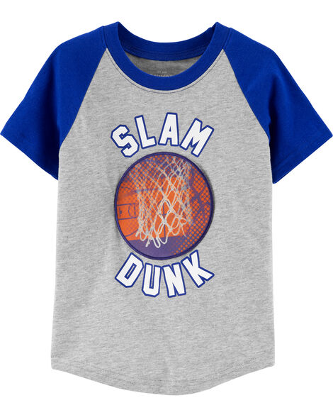 Basketball Action Graphic Tee