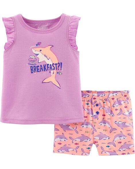 Pyjama 2 pièces à requin
