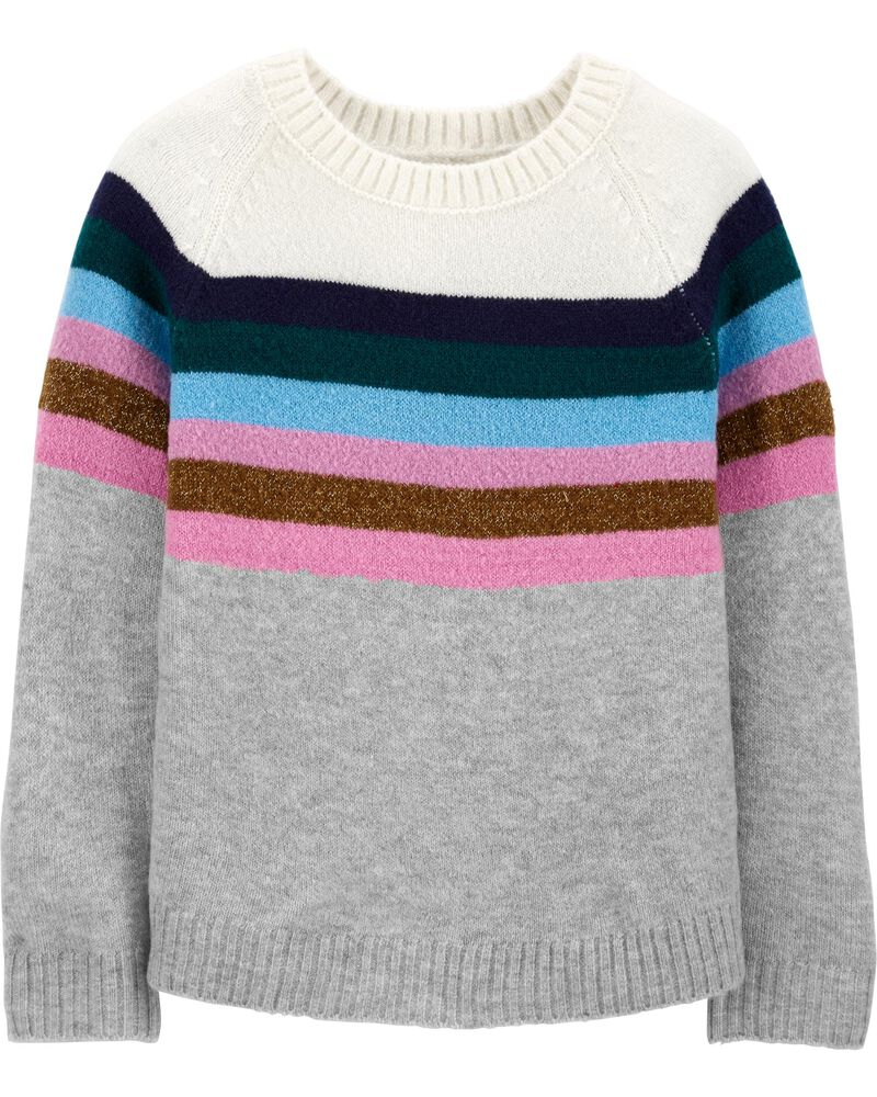 Sparkle Stripe Sweater, , hi-res