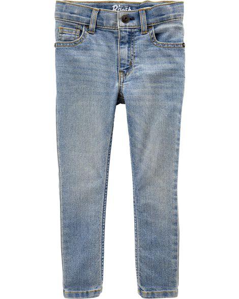 Regular Fit Skinny Jeans - Sun Faded Light Wash