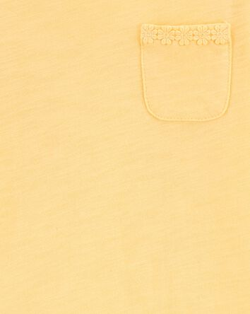Haut à ourlet avec marguerite