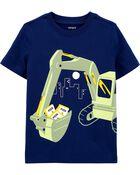 T-shirt en jersey avec camion de construction, , hi-res