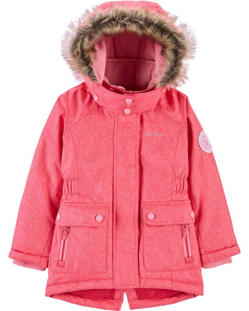 Fleece-Lined Heavyweight Hooded Parka, , hi-res