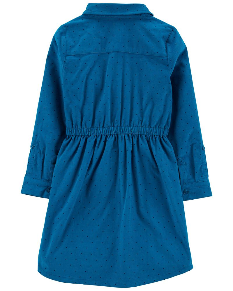 Corduroy Shirt Dress, , hi-res