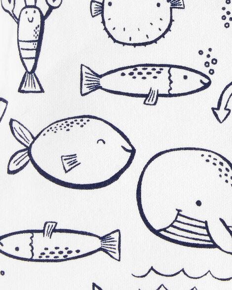 2-Piece Tee & Whale Shortalls Set