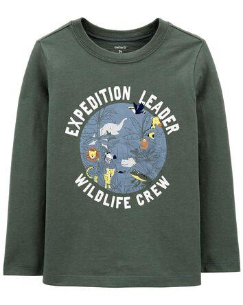 T-shirt en jersey vie sauvage