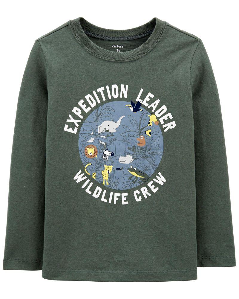 T-shirt en jersey vie sauvage, , hi-res