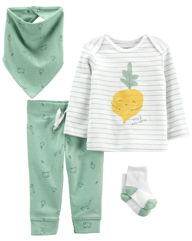 4-Piece Veggie Outfit Set, , hi-res