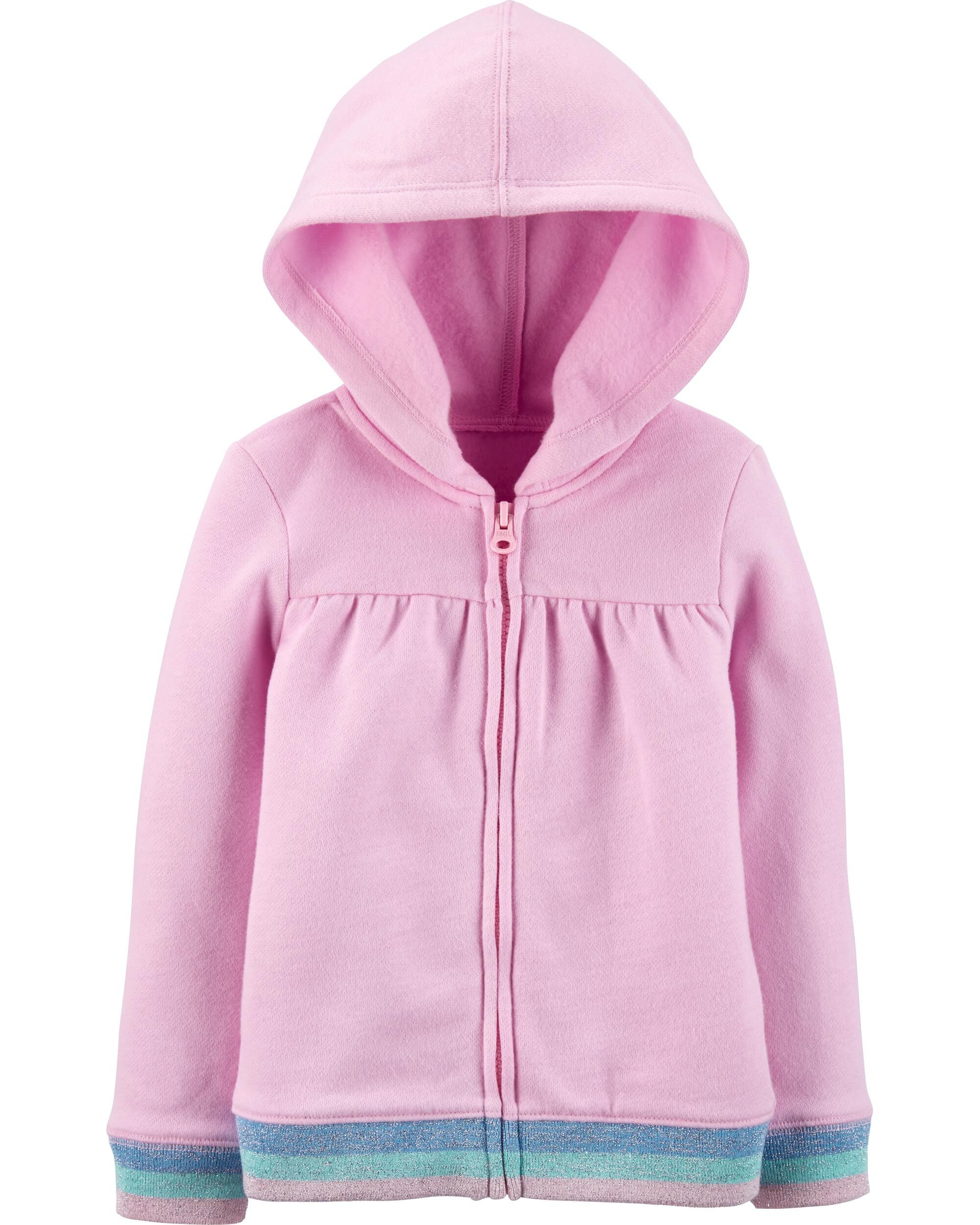Carters Toddler Girl Zip-Up Glitter Unicorn Fleece Hoodie Jacket Outerwear 5T