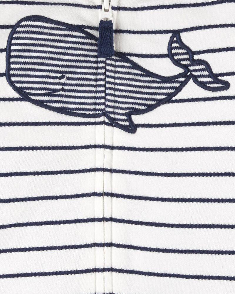 Ensemble 3 pièces haut à capuchon motif baleine, , hi-res