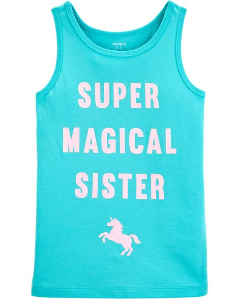 Super Magical Sister Unicorn Tank