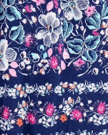 Barboteuse fleurie à pompon