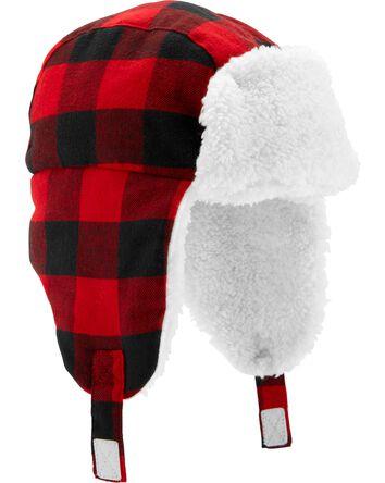 Buffalo Check Sherpa Trapper Hat
